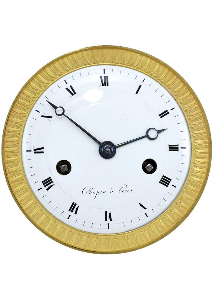 RARE ancien cadran emaillé pendulette VIERGE piece horlogerie horloger
