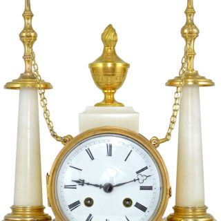 pendule aux ob lisques marbre et bronze xix me clock. Black Bedroom Furniture Sets. Home Design Ideas