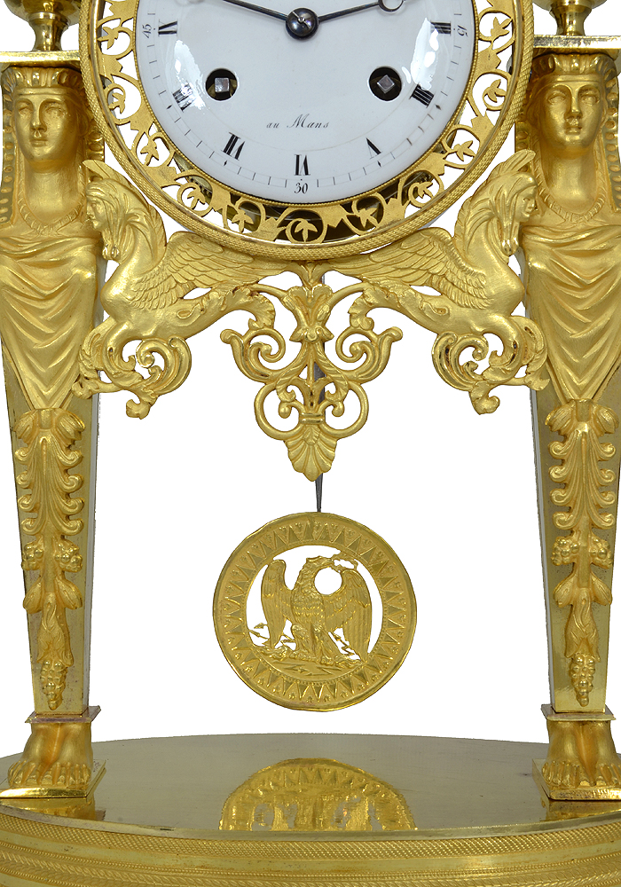 AIGLE 1er empire ? Clock-Empire-return-from-Egypt-7