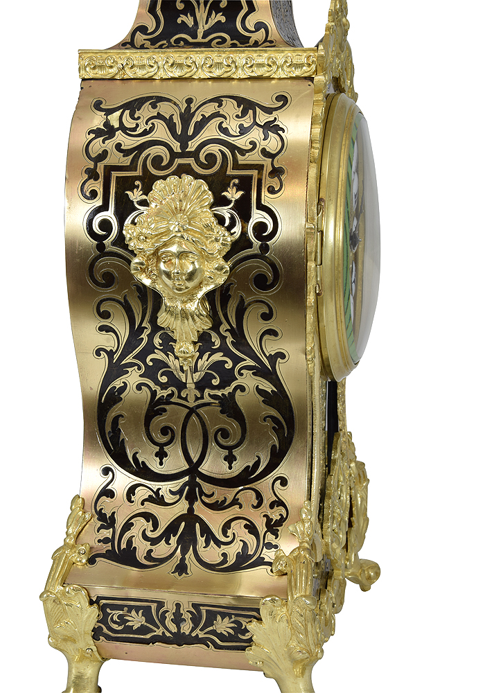 Clock style Louis XIV marquetery technique Boulle - Clock Prestige