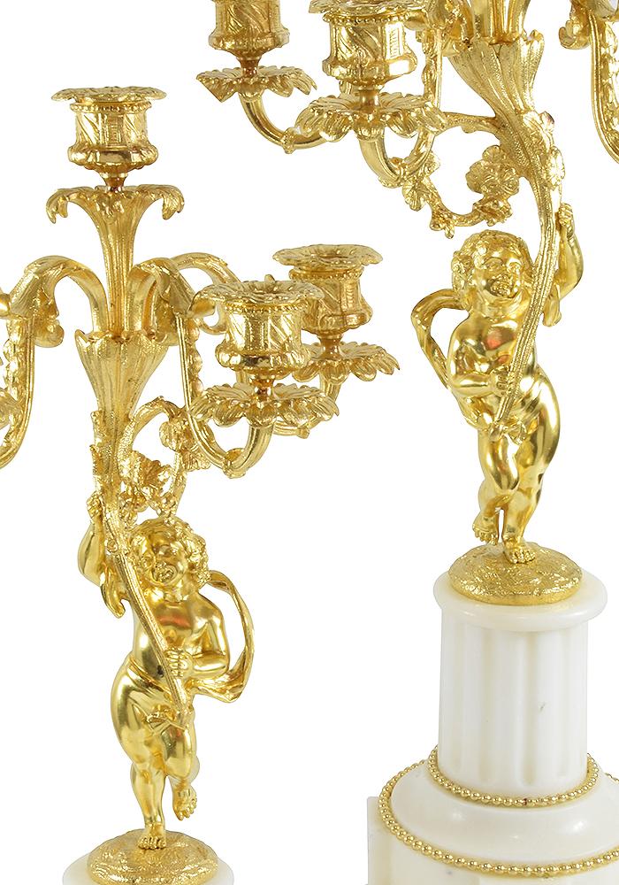 paire de chandeliers bronze napoleon (1)