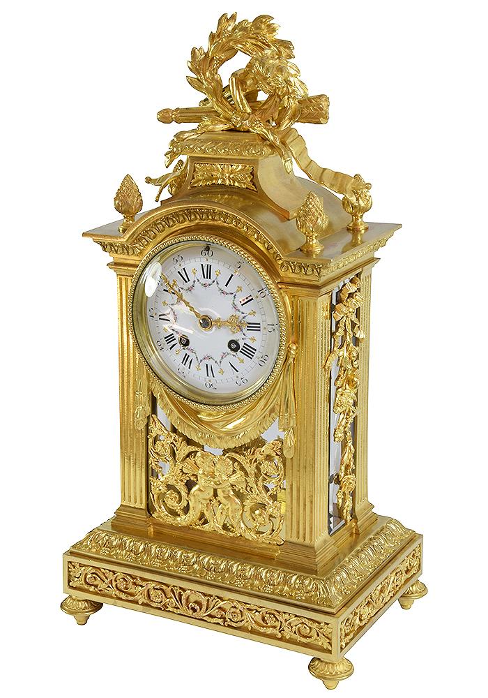 pendule cage bronze (1)
