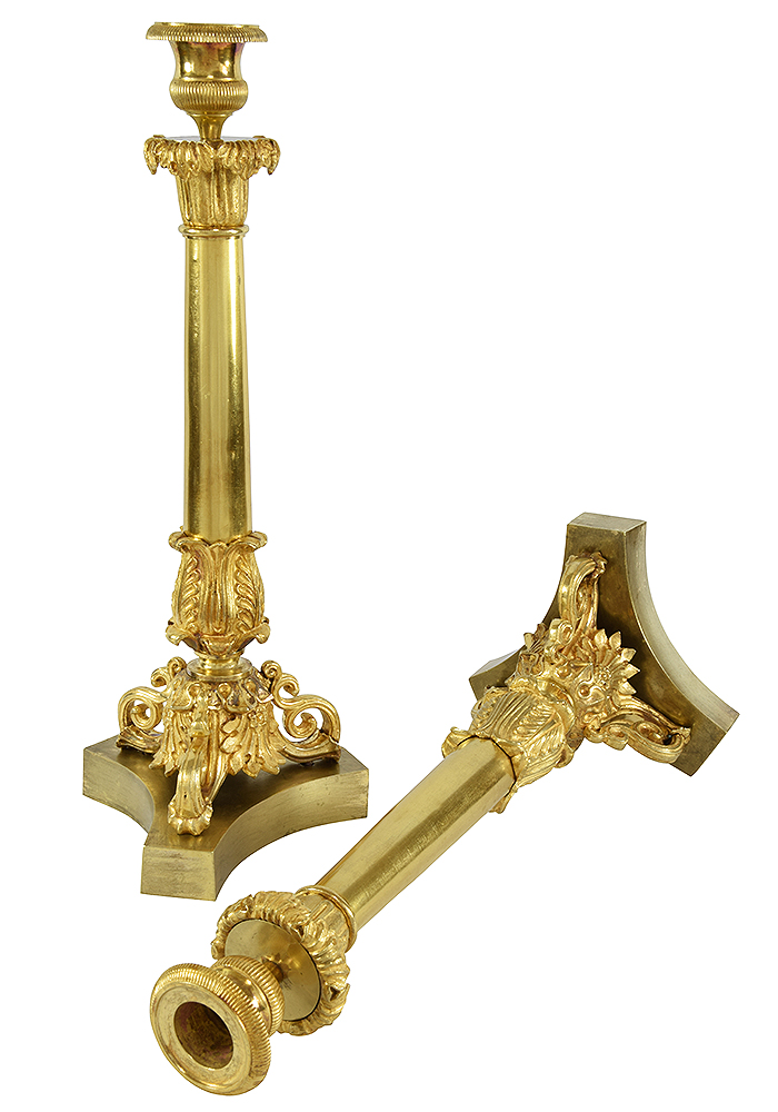 bougeoir bronze charles x (1)