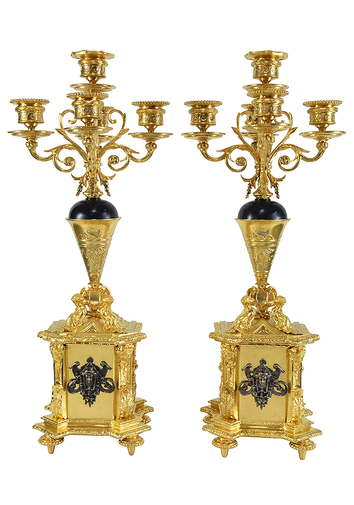 chandelier renaissance bronze (1)