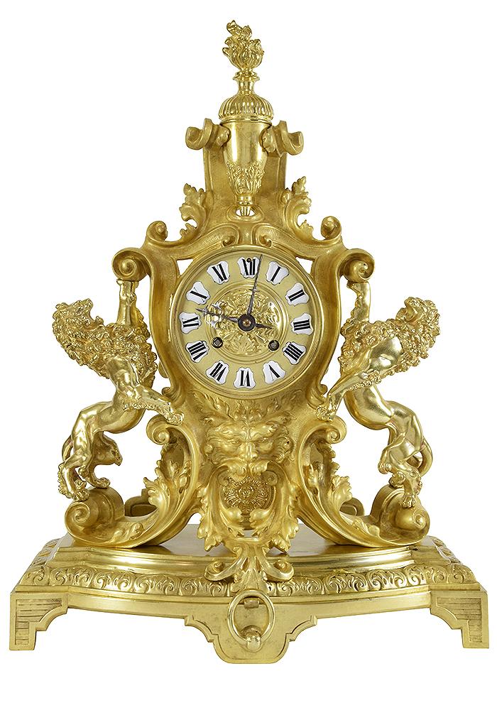 pendule lion renaissance (1)